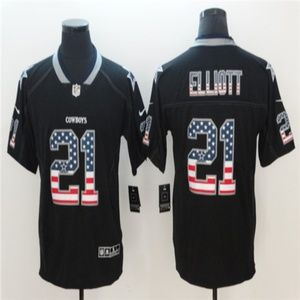 Cowboys Ezekiel Elliott Jersey Usa Flag